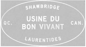 Écusson microbrasserie Shawbridge