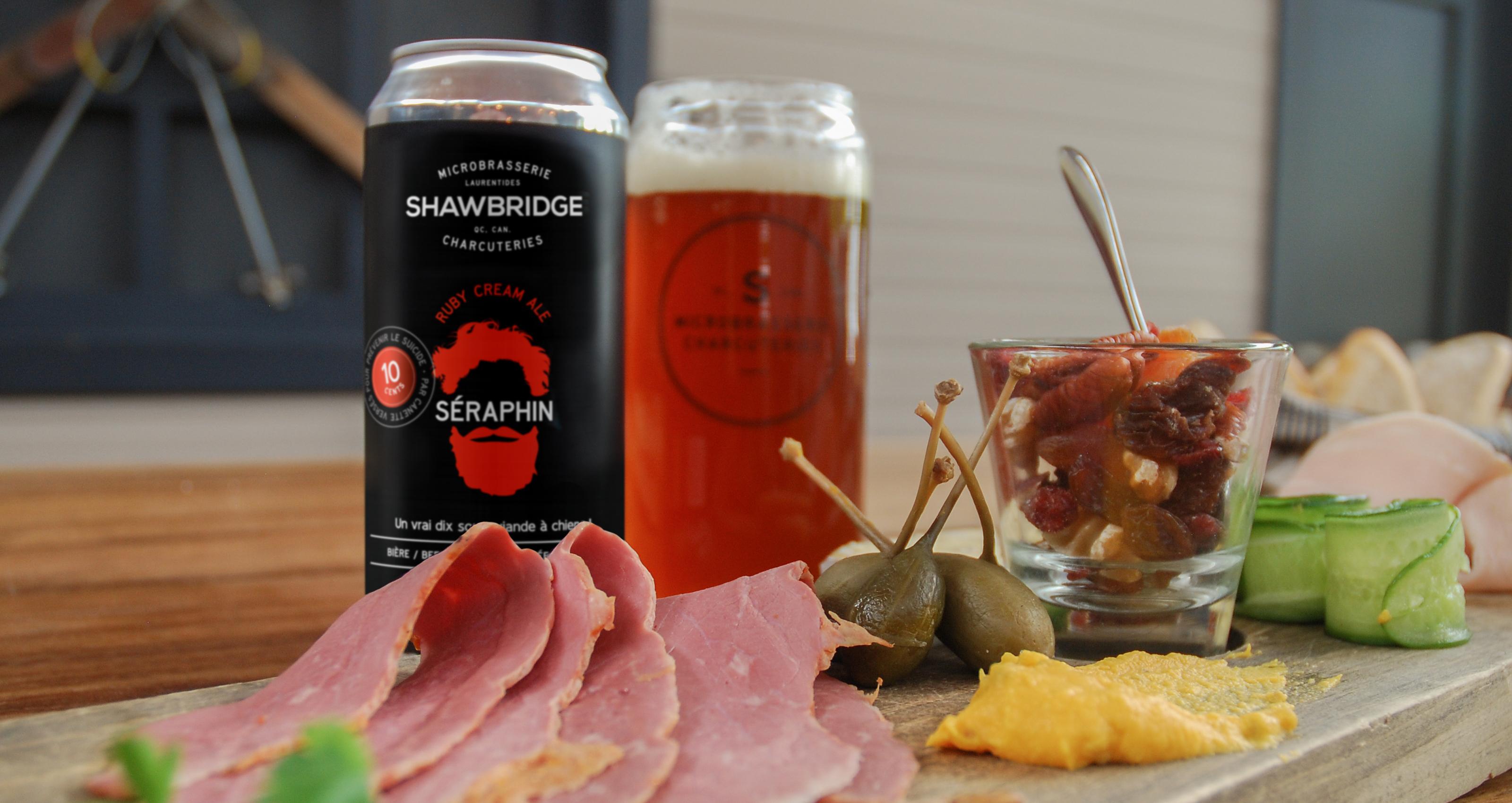 Bière Shawbridge Séraphin viande fumée à l'érable