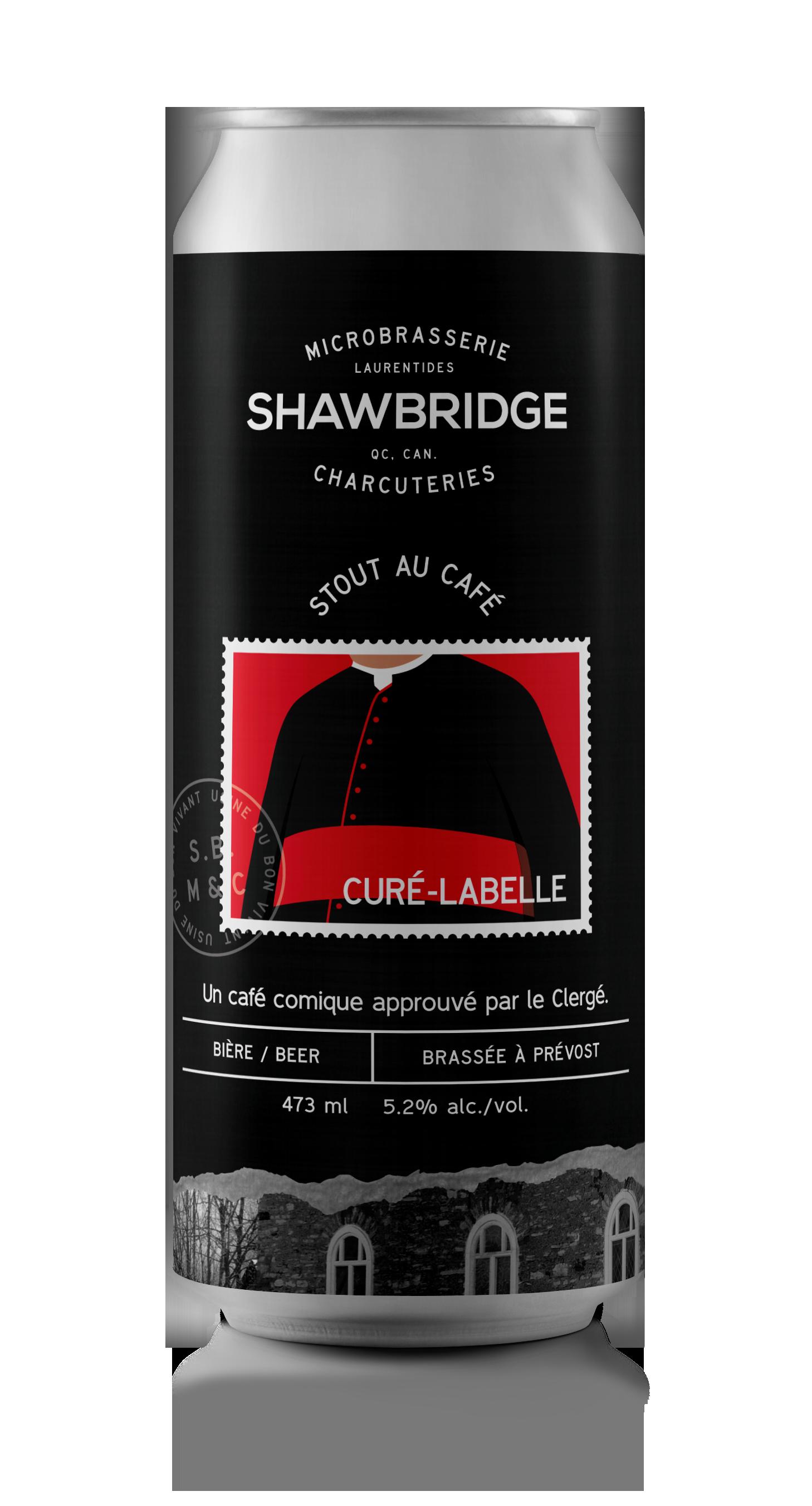 Canette Curé-Labelle Stout au café Shawbridge