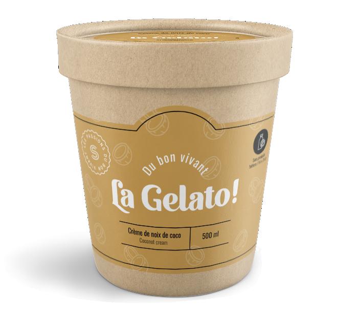 Gelato crème de noix de coco Shawbrige