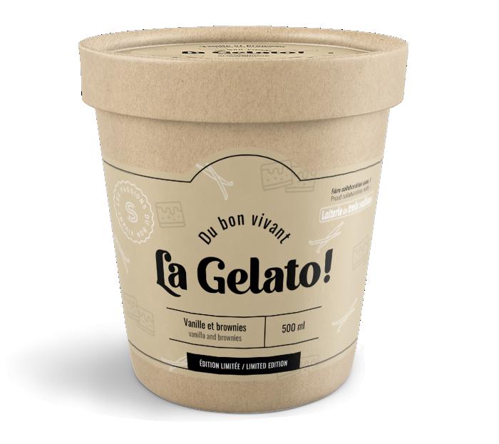 Gelato vanille et brownies Shawbrige
