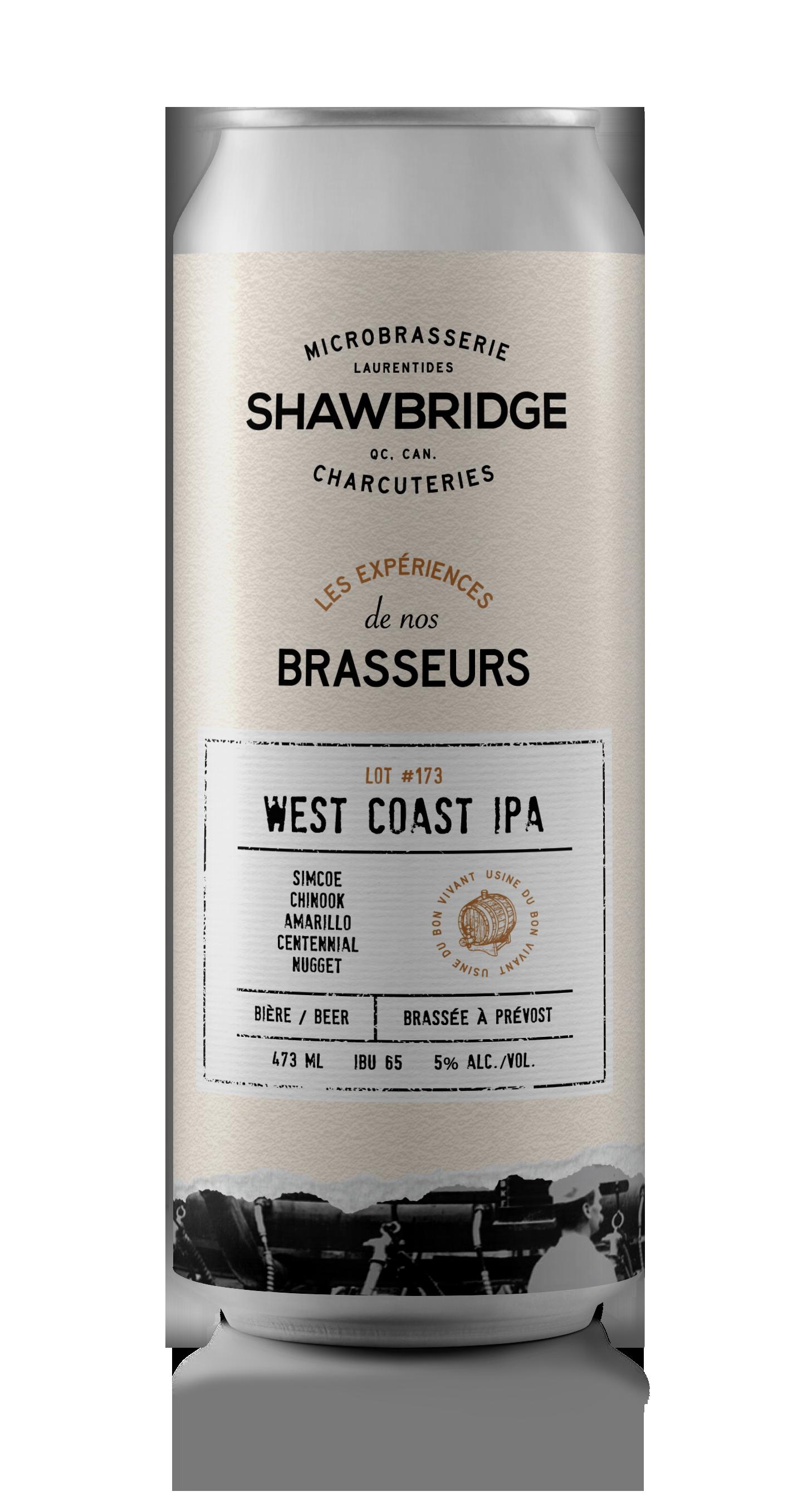 Cannette bière Shawbridge West Coast IPA